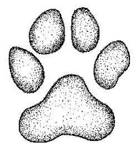 Paw Print Rubber Stamp - 112A02