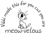 Meow-velous Custom Rubber Stamp