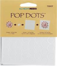 """White Round Pop Dots 1/2"""""""