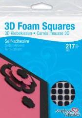 Black 3D Foam Squares Assorted