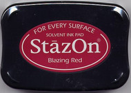 Blazing Red StazOn Ink Pad