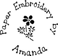Paper Embroidery Custom Rubber Stamp