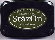 Olive Green StazOn Ink Pad