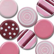 Pink Big Round Brads