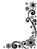 Snowflakes and Scroll Embossing Folder