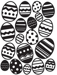 Easter Egg Background Embossing Folder