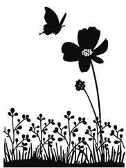 Butterfly on Flower Embossing Folder