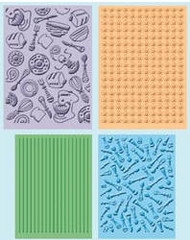 Retro Kitchen Embossing Folder Set