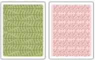 Evergreen & Snow Flowers Embossing Folder Set