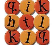 Orange Alphabet Brads