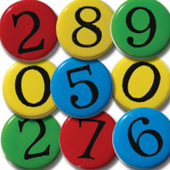 Primary Number Brads