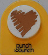 Contemporary Heart Large Punch
