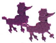 Pink Poodle Brads
