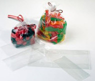 "3"" x 6 1/2"" Clear Gusset Bag - G36"