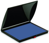 "2 7/8"" x 6 1/8"" Blue Felt Ink Pad"