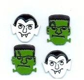 Dracula & Frankenstein Brads