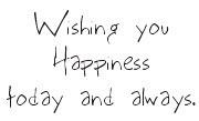 Wishing you Happiness - 203W02