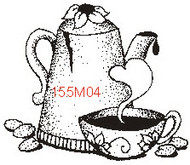Daisy Coffee Pot & Cup - 155M04