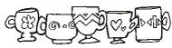 Deco Coffee Cups - 148M05