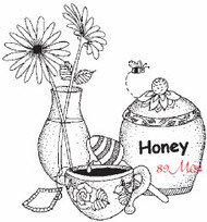 Honey Pot Rubber Stamp - 89M04
