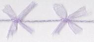 Lilac Organdy Bow Cord