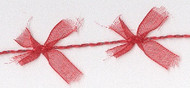 Red Organdy Bow Cord