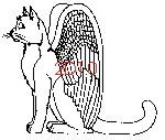 Cat with Wings Rubber Stamp - 2D10
