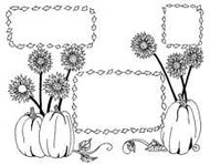 Pumpkin Envelope Stamp