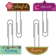 Tab Softies Paper Clips