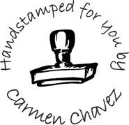 Handstamped For You Custom Rubber Stamp
