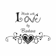 Heart Made with Love by Custom Rubber Stamp