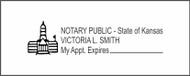 Kansas Notary Custom Rubber Stamp