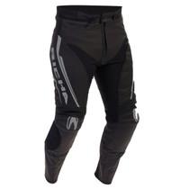 Richa Monza Leather Trousers - Black / Grey
