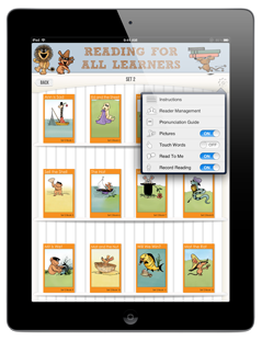 Reading For All Learners App - Control Panel