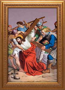 Stations of the Cross framed giclee canvas (Set of 14)