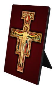 San Damiano Crucifix Vertical Desk Plaque