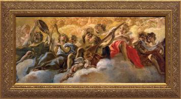 Concert of Angels by Gaulli Framed Art