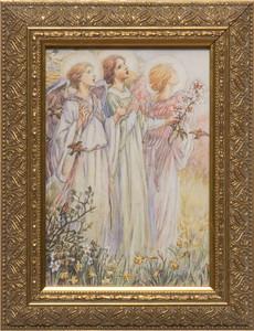 Three Angels by M.C. Barker Framed Art
