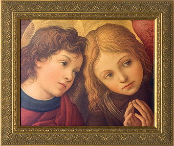 Two Angels by Lippi Framed Art