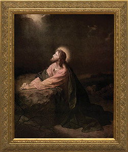 Christ in the Garden of Gethsemane Framed Art