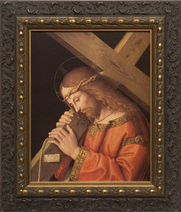 Christ Bearing the Cross - Dark Ornate Framed Art