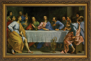 Last Supper by Champaigne Framed Art
