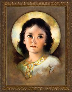 The Christ Child - Standard Gold Framed Art