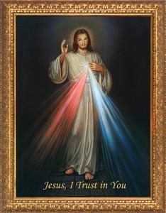 Divine Mercy - Standard Gold Framed Art