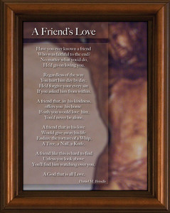 Friend's Love Poem Framed