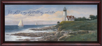 Lighthouse (My Light and My Salvation) Framed Art