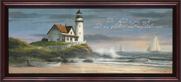 Lighthouse (My Fortress and my Deliverer) Framed Art
