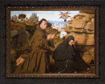 St. Francis with Stigmata Framed Art
