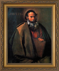 St. Paul by Velazquez - Standard Gold Framed Art