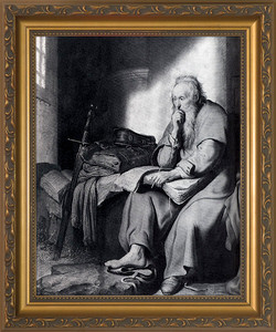 St. Paul in Prison by Rembrandt Framed Art